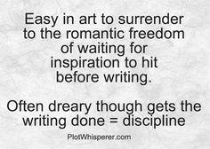 Do you wait or do you write?
