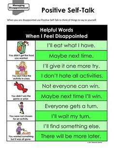 This teaching guide helps students learn how to use Positive Self-Talk when dealing with disappointment. Find the no prep lesson including lesson plan and activities by clicking here.