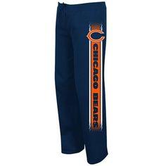 Chicago Bears Ladies Lateral Spirit III Sweatpants - Navy Blue
