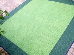 When the fabric purchased for quilt backing isn't big enough...give it a border!