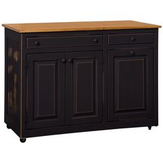Chelsea Home Furniture Black Stellas Kitchen Island 465-242-BL