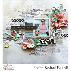 Rachael Funnell is up on our blog today showcasing another of her wonderful creations using the gorgeous 49 and Market Captured Adventures Collection. Next up from Rachael, she has a stunning layout titled 'In the Moment' which includes some of the stunning 49 and Market Flowers, Tim Holtz Distress Crayons and stencil plus one of the 49 and Market Stamps.