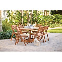 Found it at AllModern - Eaton 7 Piece Dining Set with Cushion