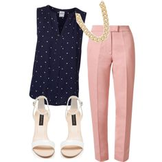 A fashion look from October 2014 featuring Vero Moda blouses, Orla Kiely pants and Forever New sandals. Browse and shop related looks.