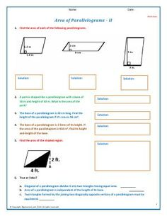 Worksheet Download Word Httpyour Student Will Be The Greatest After Completing This  Free Reading Comprehension Grade 4 Worksheets Pdf with Irs Depreciation Worksheet Excel Worksheet  Area Of Parallelograms  Ii  More Practice Problems To Find  The Area Of Periodic Table Worksheets For Kids
