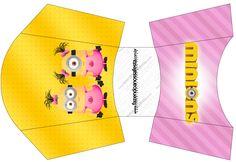 Envelope Fritas Minions para Meninas