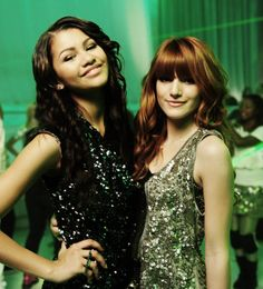 Zendaya and Bella Thorne on the set of TTYLXOX.