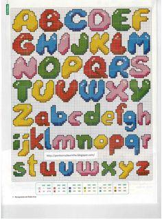 Cactus Cross Stitch, Tiny Cross Stitch, Cross Stitch For Kids, Cross Stitch Alphabet, Cross Stitch Flowers, Cross Stitch Designs, Cross Stitch Embroidery, Cross Stitch Patterns, Crochet Alphabet