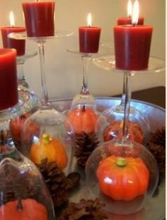 Creative Thanksgiving centerpieces for small tables