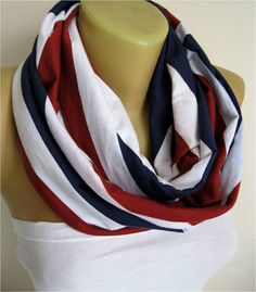NEW-Infinity Scarf England flag Circle Scarf Loop by MebaDesign