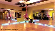 Pole Dance Advanced - Rainbow Marchenko Vol. 6.1 (Flexi Tricks) After I got down my Jade, this is my new *ultimate* move I want to learn :3