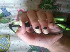 Black n white nails ..