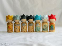 Waldorf Inspired Weather Gnomes set of 7 by The Indigo Forest