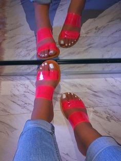 Sporting activities shoes adept for weekend adventures and trekking holiday seasons, our ladies going for walks shoes. Shoes Flats Sandals, Pink Sandals, Cute Sandals, Slide Sandals, Cute Shoes, Me Too Shoes, Rhinestone Sandals, Women's Shoes, Fresh Shoes