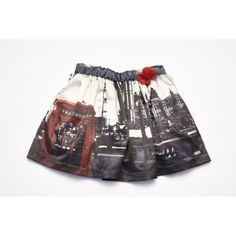 8ff0e6f009b2 Ariana Dee Navy   Red London Print Skirt W151612 Print Skirt