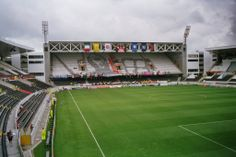 Estadio Dom Afonso Henriques home of Vitoria Sport Clube in the city of Guimarães,birthplace of the country.