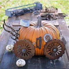 Steampunk Cinderella's Coach? Fun no-carve option for Halloween.