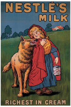 Vintage Nestle Milk Poster