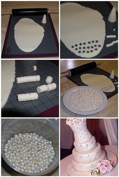 My tutorial for making sugar pearls.... and my daughters wedding cake