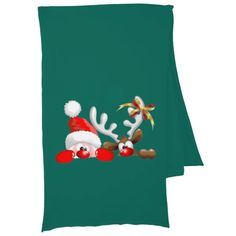 #Funny #Santa and #Reindeer #Cartoon #Scarves! ☆◠‿◠☆ http://www.zazzle.com/funny_santa_and_reindeer_cartoon_scarves-256413065512452170?CMPN=addthis&lang=en&rf=238248792171155868
