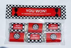 Racing Car Theme Mini Choc Wrappers