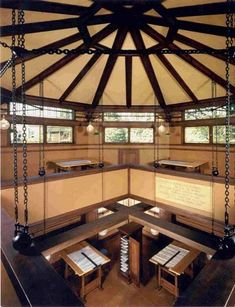 Frank Lloyd Wright lived at his Oak Park, IL residence from 1889 until 1909.