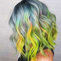 Rainbow Sherbet perfection by PRAVANA Artistic Educator @glamourbylisamarie  #pravana #pravanavivids #theresonlyone #iampravana #rainbowhair