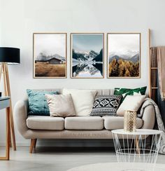 Unique Wall Decor, Metal Wall Decor, Metal Wall Art, Foggy Mountains, Above Couch, Forest Landscape, Landscape Art, Mountain Landscape, Wall Art Sets