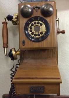 Made to look Vintage phone Vintage Phones, Look Vintage, Landline Phone, Clock, Technology, Decor, Watch, Tech, Decoration