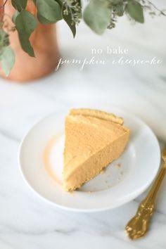 5 minute, 5 ingredient no bake pumpkin cheesecake recipe