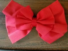 NEW Fabric HAIR BOW with Alligator Clip  Red Color Handmade