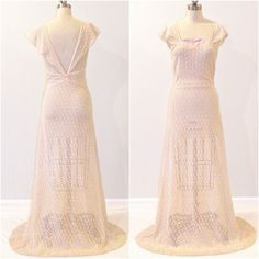 1930s+Dress+30s+Embroidered+Net+Bias+Cut+Evening+by+daisyandstella,+$350.00
