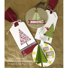 Festival of Trees - Gift Tags by SewingStamper06 - Cards and Paper Crafts at Splitcoaststampers