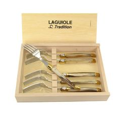 I pinned this Laguiole Russell Fork (Set of 6) from the La Laguiole event at Joss and Main!