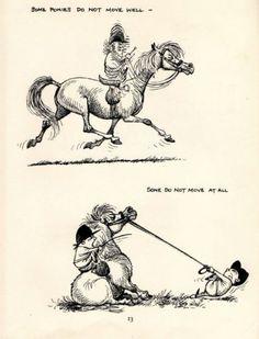 1962: Thelwell Comical Horse Pony Original Vintage Art Cartoon Print