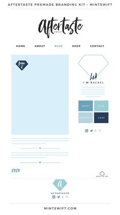 I'm sorry, MintSwift Shop is currently closed - MintSwift Branding Kit, Business Branding, Branding Design, Branding Website, Branding Ideas, Logo Design Tips, Web Design, Blog Website Design, Blog Design