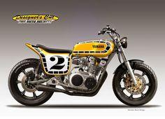 "Cafè Racer Concepts - Yamaha XS 750 ""Kenny"" by Oberdan Bezzi"