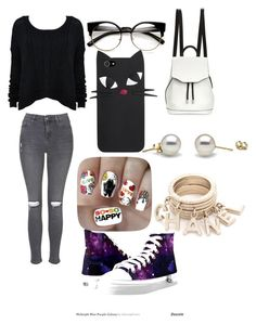 """""""Untitled #25"""" by lildcon on Polyvore featuring Topshop, rag & bone, Alice + Olivia and Nail Pop"""