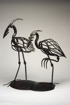 'Two herons' also be Pat Plourde.... I love these, I think they're so graceful... beautiful !