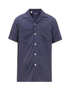 Nwt Massmino Dutti Polka Dot Collar Cotton Blend Long Sleeve Shirt XXL New