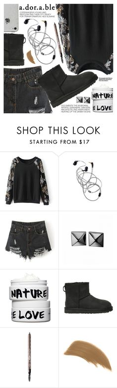 """""""Adorable"""" by stylemoi-offical ❤ liked on Polyvore featuring Hedi Slimane, Waterford, Nature Girl, UGG Australia, Benefit, Jane Iredale and stylemoi"""