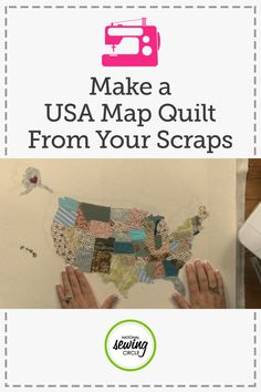 Using up small scraps of fabric can sometimes be tricky. Odds are they aren't all from the same project, so they may not match. In this map quilt project, see how to use fabrics of all colors and prints together in one fun quilted home decor piece- Ashley Hough shows you how.