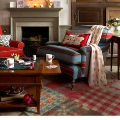 pattern mixing    warm living room