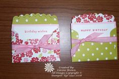 quick, easy gift cards to give for anniversary, birthday, and monogram