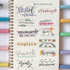 Bullet Journal School, Bullet Journal Titles, Bullet Journal Banner, Bullet Journal Aesthetic, Bullet Journal Notebook, Bullet Journal Inspiration, Bullet Journal Lettering, Journal Fonts, Doodles