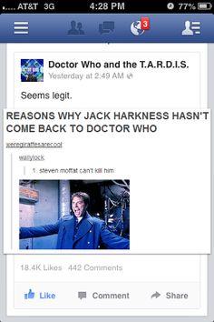 Actually Steven Moffat has already killed Captain Jack