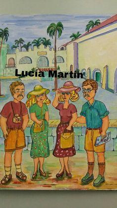"""Ilustraciones de Lucía Martín para el cuento """" Una tartana para la tarde de los lunes"""" de J.Nieto"""