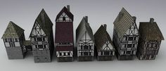 3d model medieval town houses