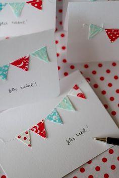 Cute hand made card idea.