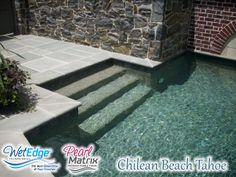 Pearl Matrix Chilean Beach Tahoe - Installed by ASI Pool Plastering